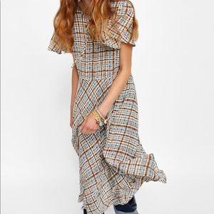 NWT Zara Flowy Plaid Dress